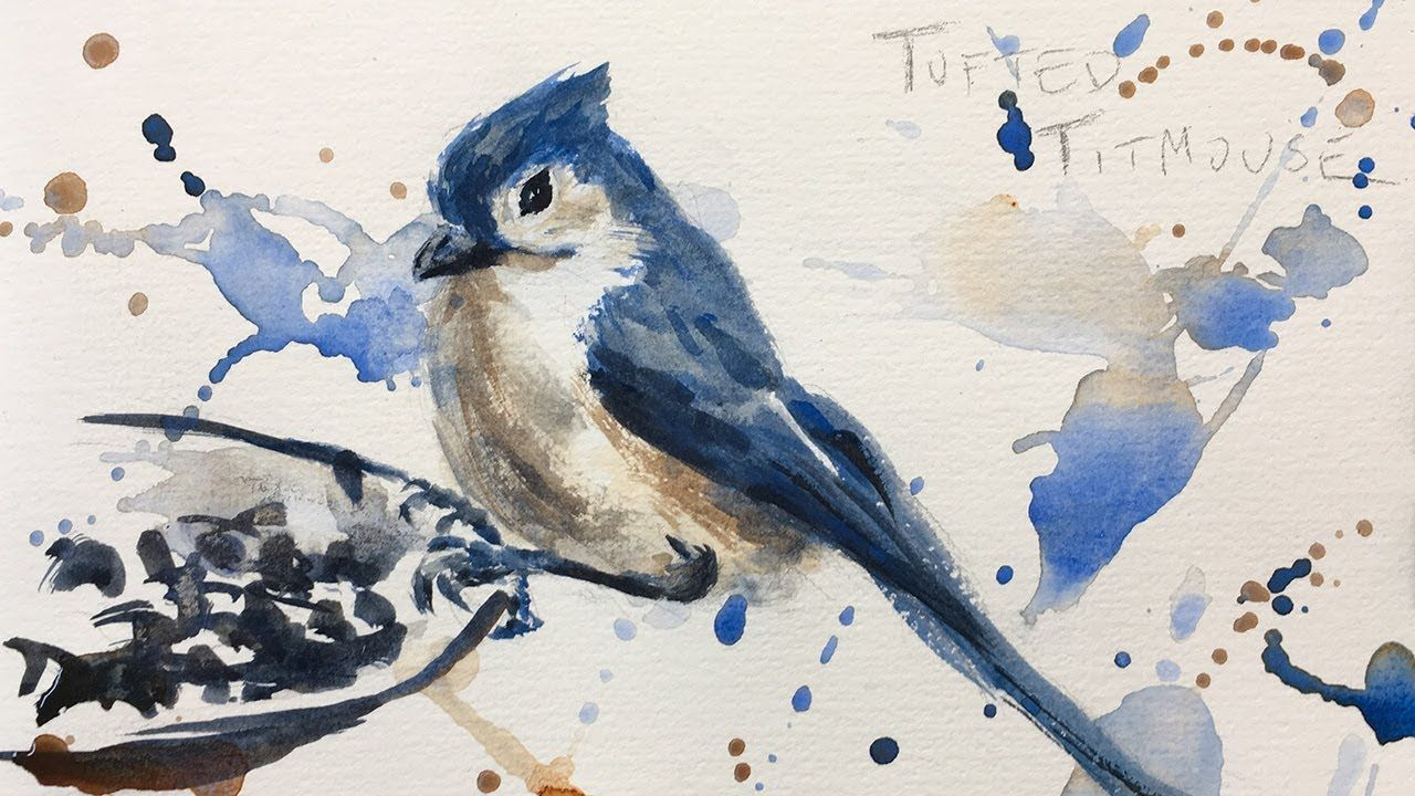Bird Watercolor Painting Tutorial Youtube Watercolor Paintings
