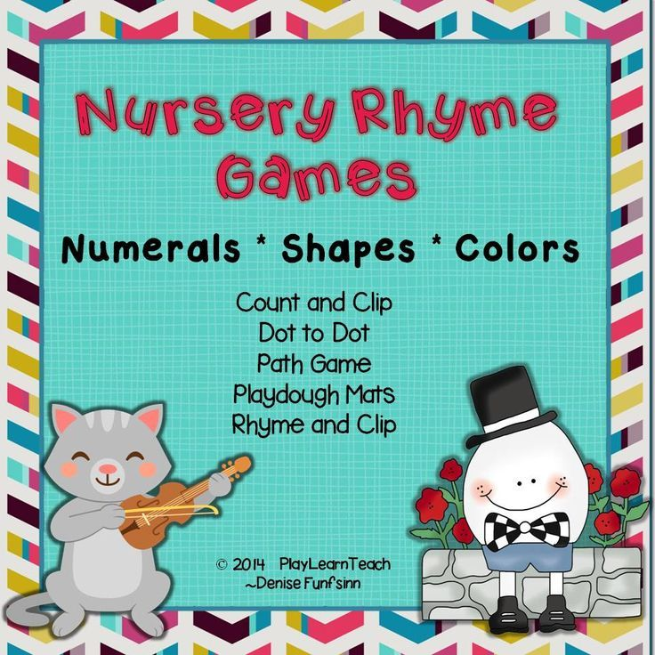 Nursery Rhyme For Preschoolers Count And Clip Cards Dot To Playdough