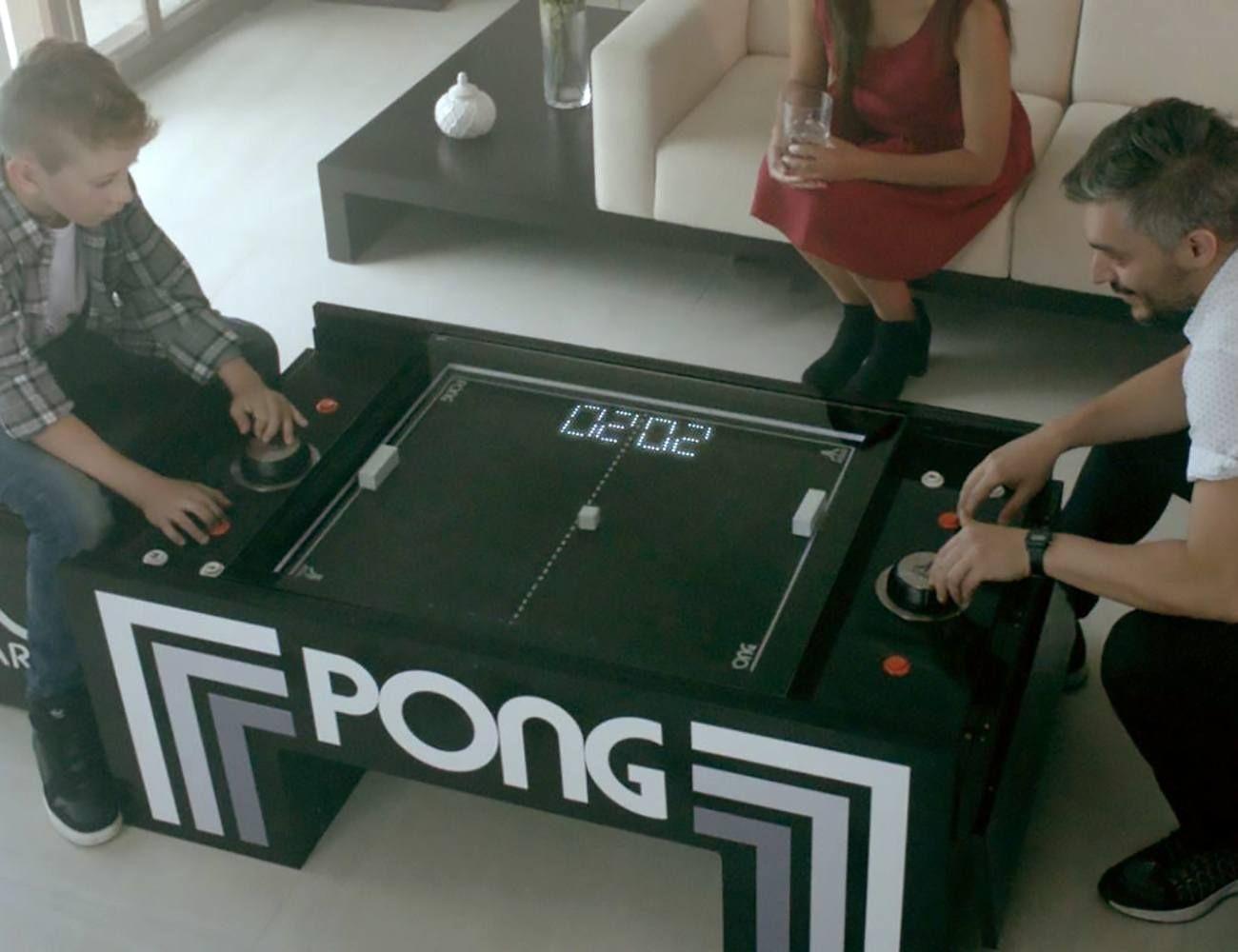 Atari Pong Multifunctional Coffee Table Coffee Table Size Video