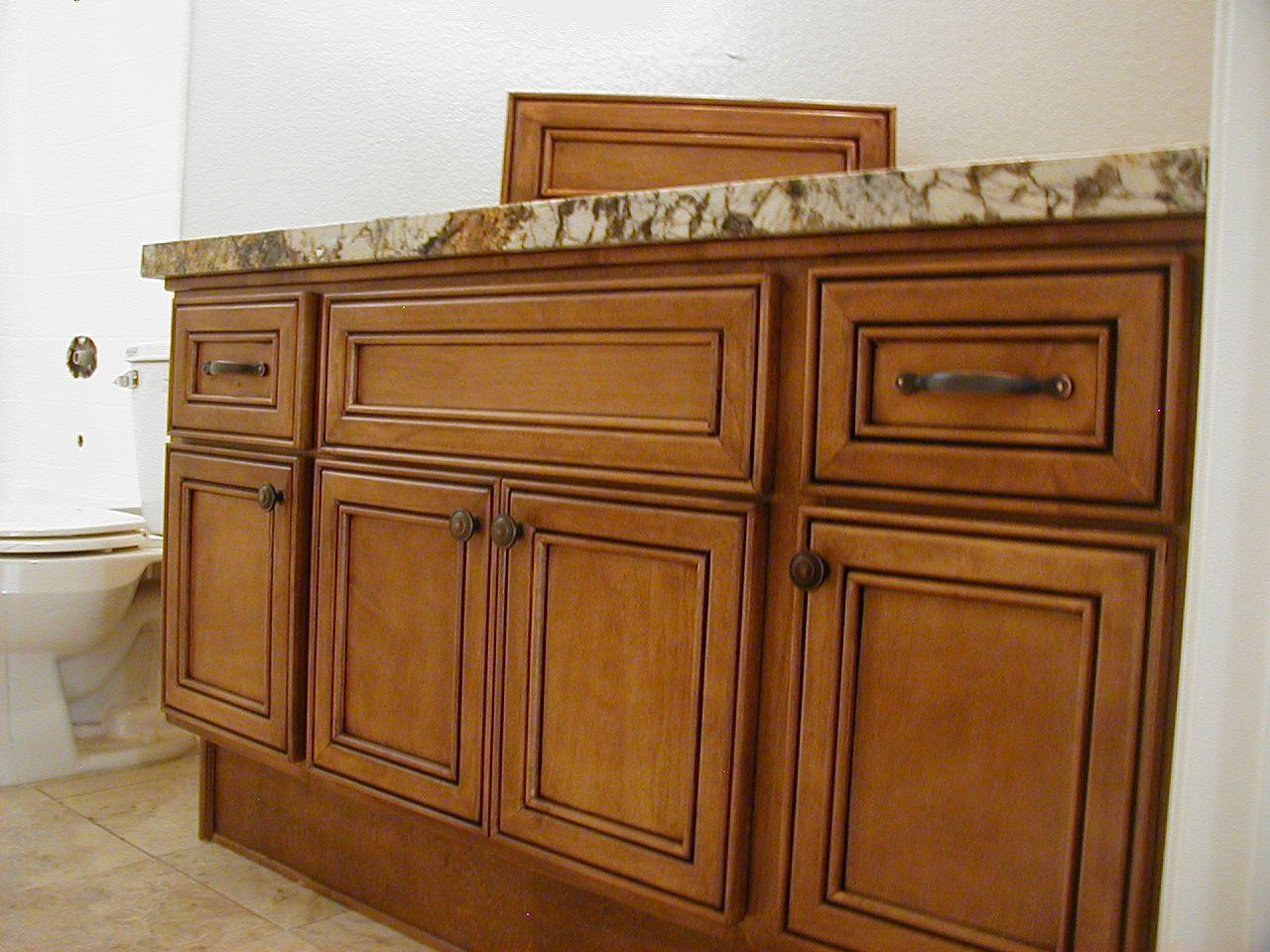Maple color bathroom cabinets. | Custom bathroom cabinets ... on Bathroom Ideas With Maple Cabinets  id=45589