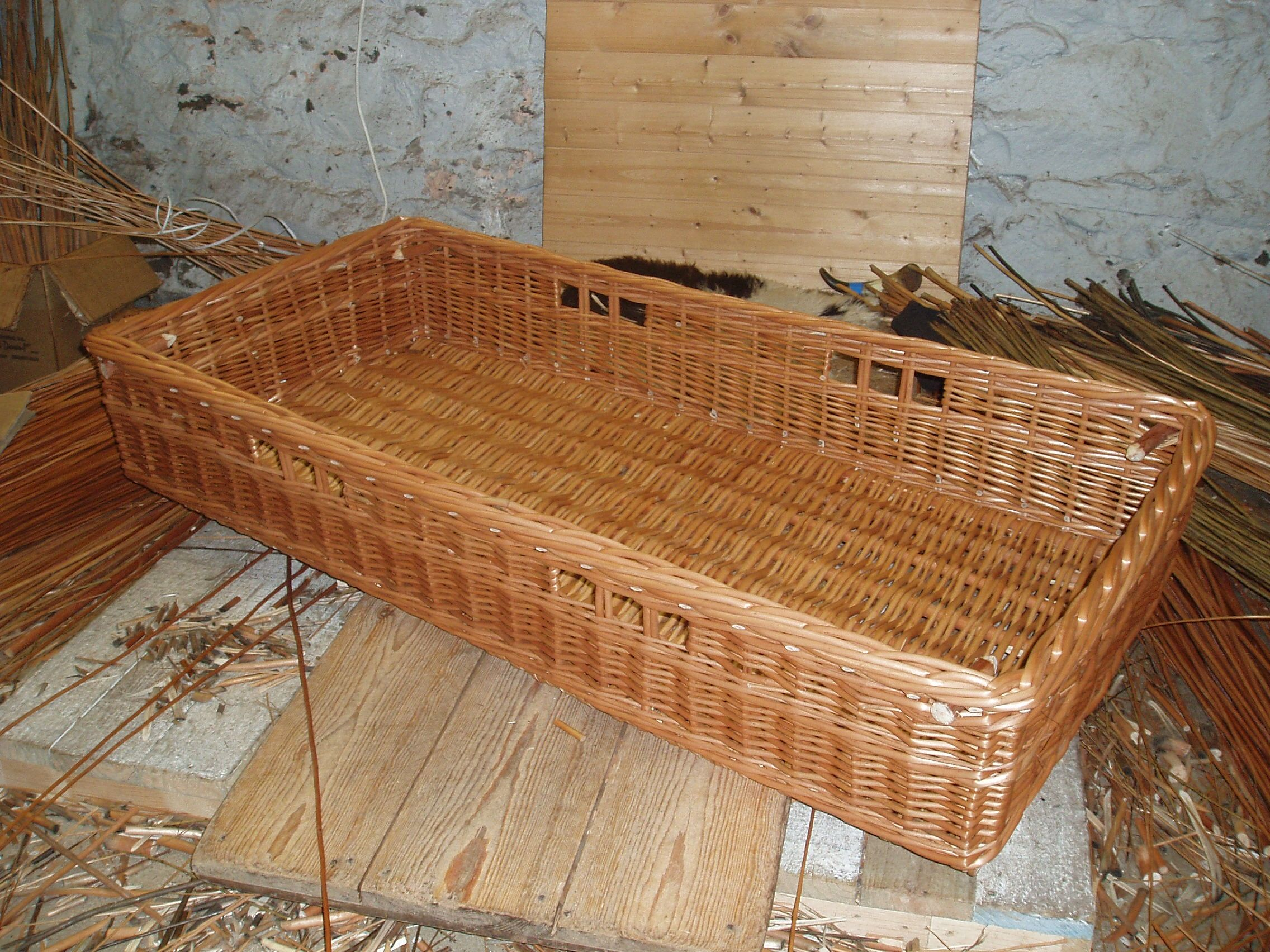 Large Rectangular Basket For Storage Under A Bench On A Boat. Weu0027ve  Left 4 Pegs