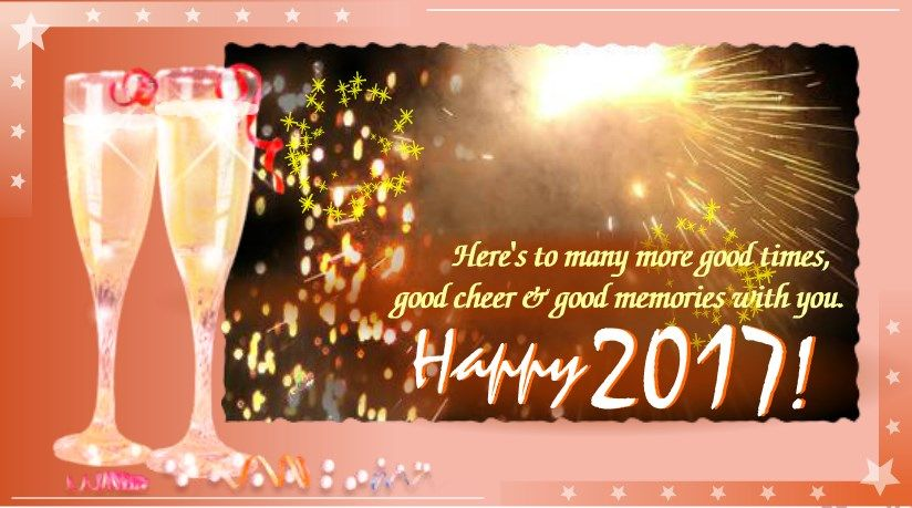 New Year 2017 Greeting Wishes For Friends Hy 2018 Creative Cards