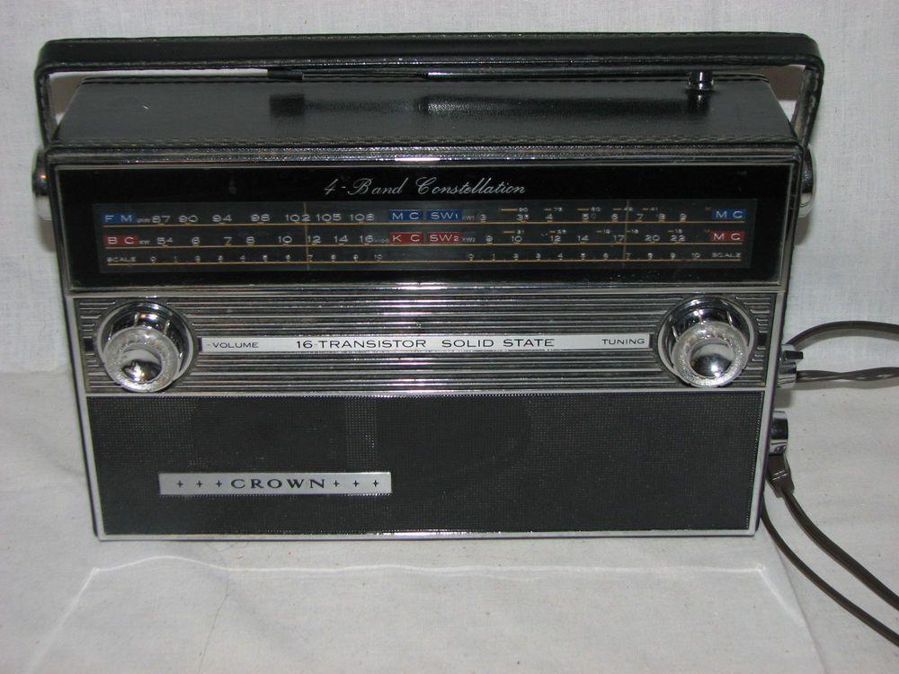Vtg Crown Constellation 16 Transistor Trf 2200 S Short Wave Radio Works Radio Shortwave Radio Transistors