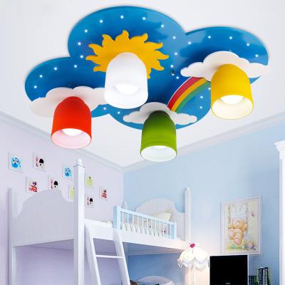 Fashion Wood Clouds Bedroom Ceiling Lamp Cartoon Kid S Room