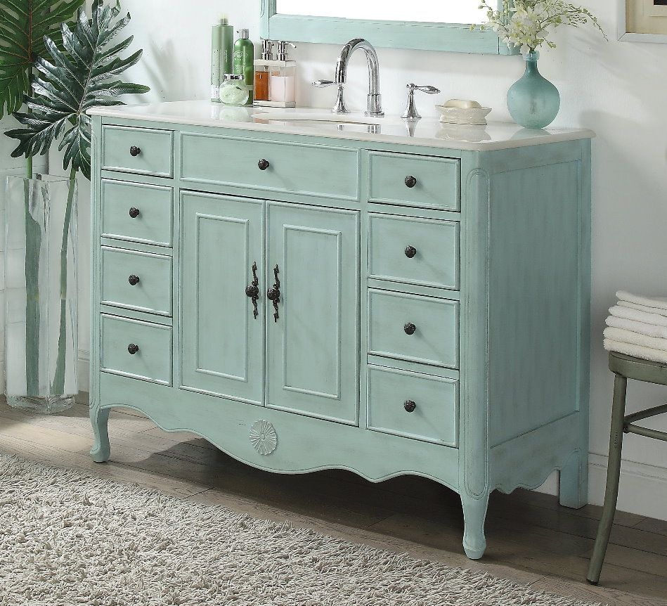 46 5 Shabby Chic Bathroom Shabby Chic Vanity Single Bathroom Vanity
