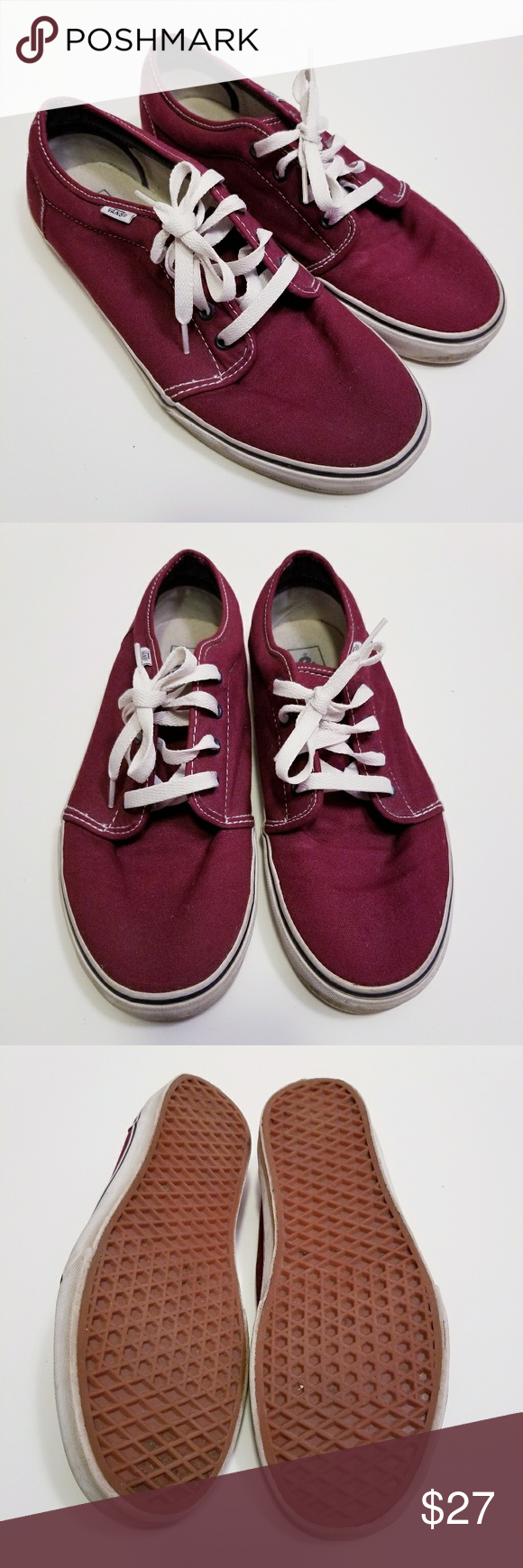 69bcad5832 Spotted while shopping on Poshmark  Vans Maroon Red Mens Size 11 Womens Sz  13 Shoes