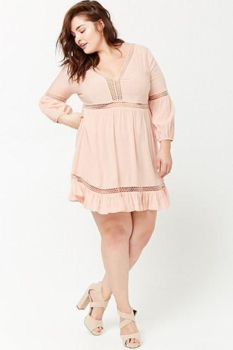 Plus Size Crochet Lace Peasant Dress | Stitch Fix Style ...