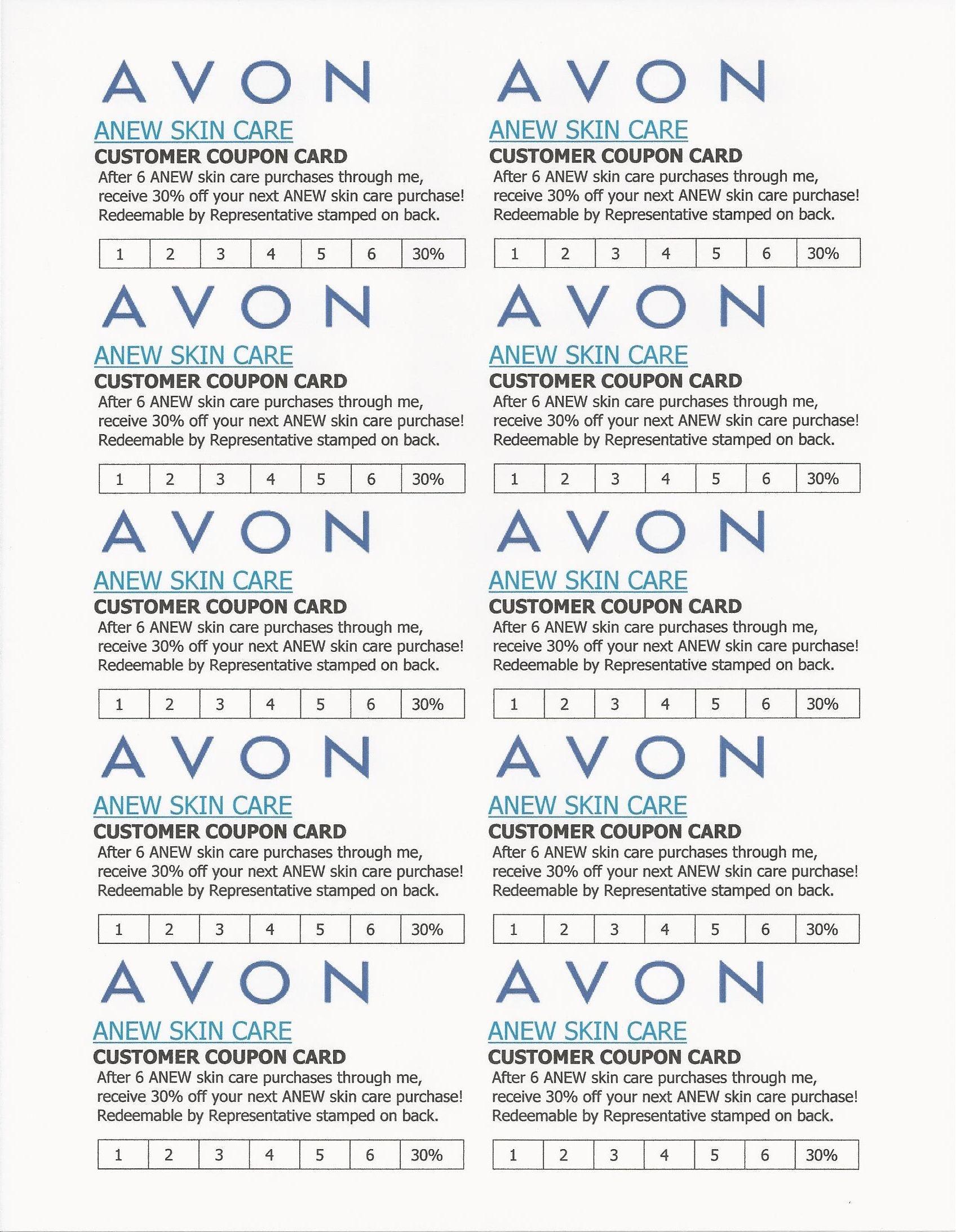 Avon discount coupons