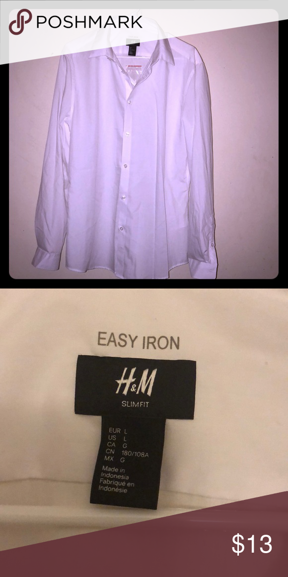 H&M button down NWOT H&M slim fit easy iron shirt. Any