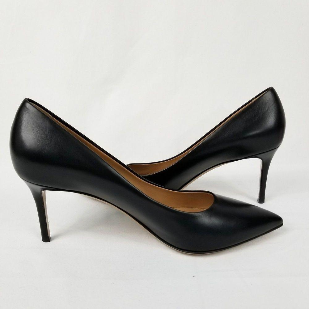 7b217761a576 Salvatore Ferragamo Fiore 70 Calf Leather Pumps Women s Sz 8B Nero ...
