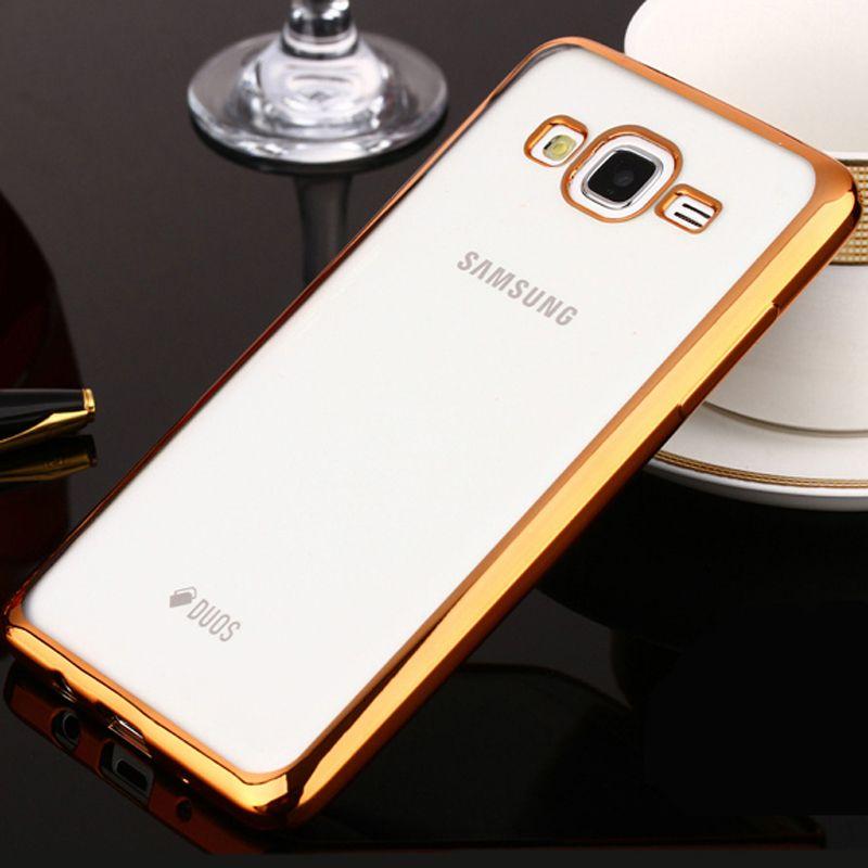 Telefonkasten Für Samsung Galaxy J5 J3 J2 J1 Ace Dünne klar Plattierung Galvanik TPU Handyabdeckung Für Samsung J Serie