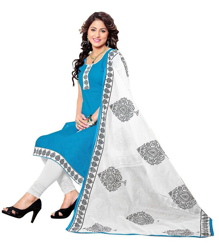 96a808b38a Muta Fashions Cotton Sky Blue Women Suit   Latest Party Wear ...