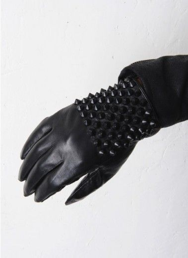 Mens Spiked Studs Leather Gloves at Fabrixquare (CA$46.00) - Svpply