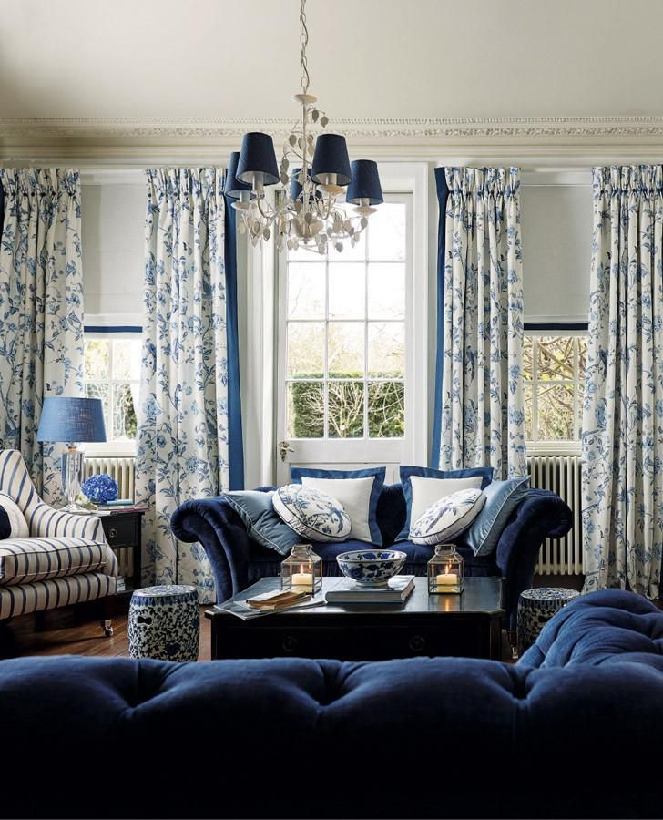 Royal Blue Kitchen Design: Summer Palace Royal Blue Fabric