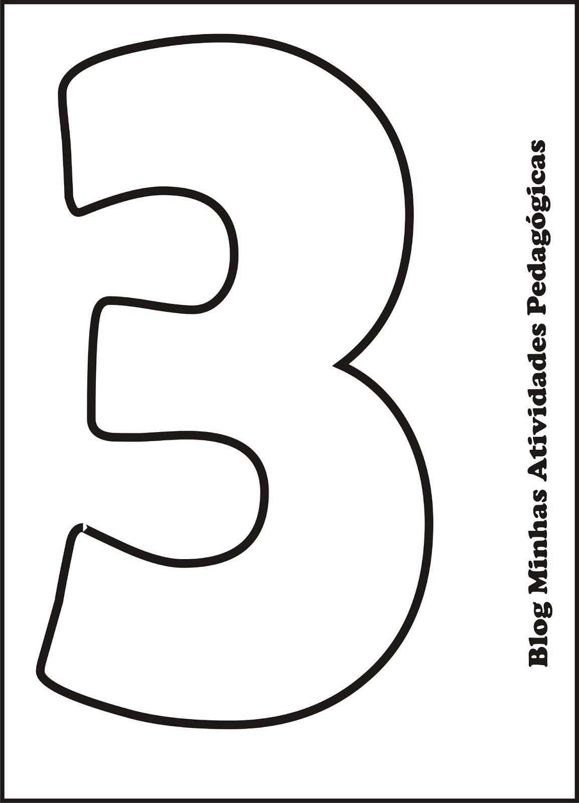 Se você tem filhos pequenos em casa os moldes de números para ...