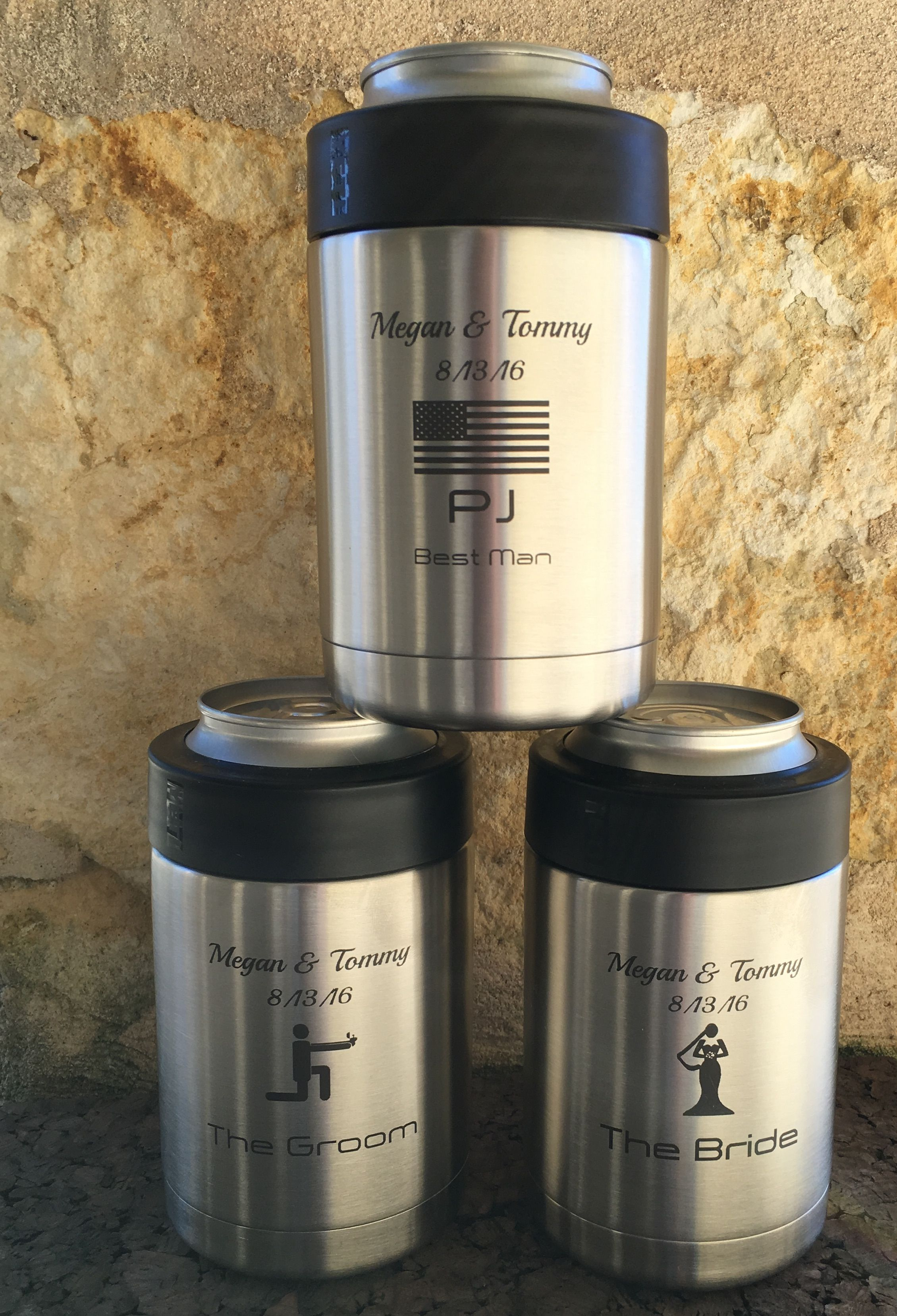 Custom Yeti Colster Koozies For A Wedding Party