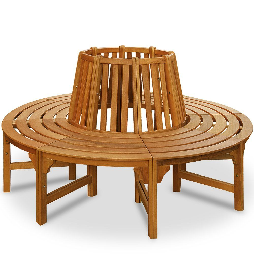 Tree Seat bench made of Hardwood Garden Outdoor Round Tree benches ...