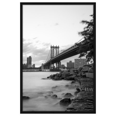 24x36 Black Poster Frame - Designed to Display Vertically or ...