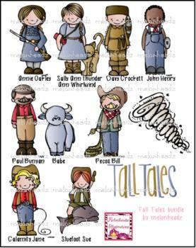 Tall Tales Clip Art By Melonheadz Tall Tales Stories For Kids