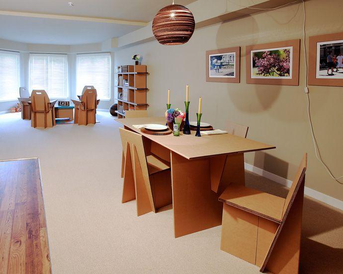 Furniture designrulz 6 decora con muebles de cartón reciclado ...