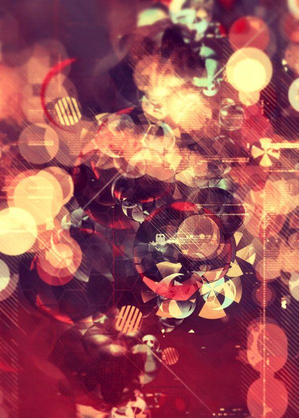 Retro Bubbles - Digital Artwork by Atelier Olschinsky
