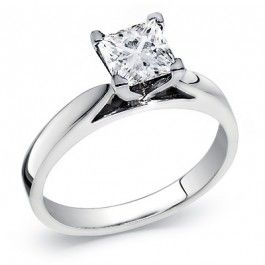 Princess Cut Diamond Solitaire Ring 0.40 Carat. This classic princess cut solitaire diamond ring includes a 0.40 carat set in a cathedral setting and high polish finish. The diamond is graded SI Clarity and G-H Color. Can be complemented in 14k Gold, 18k Gold, or Platinum 950 setting.  **Free Shipping **1 year layaway