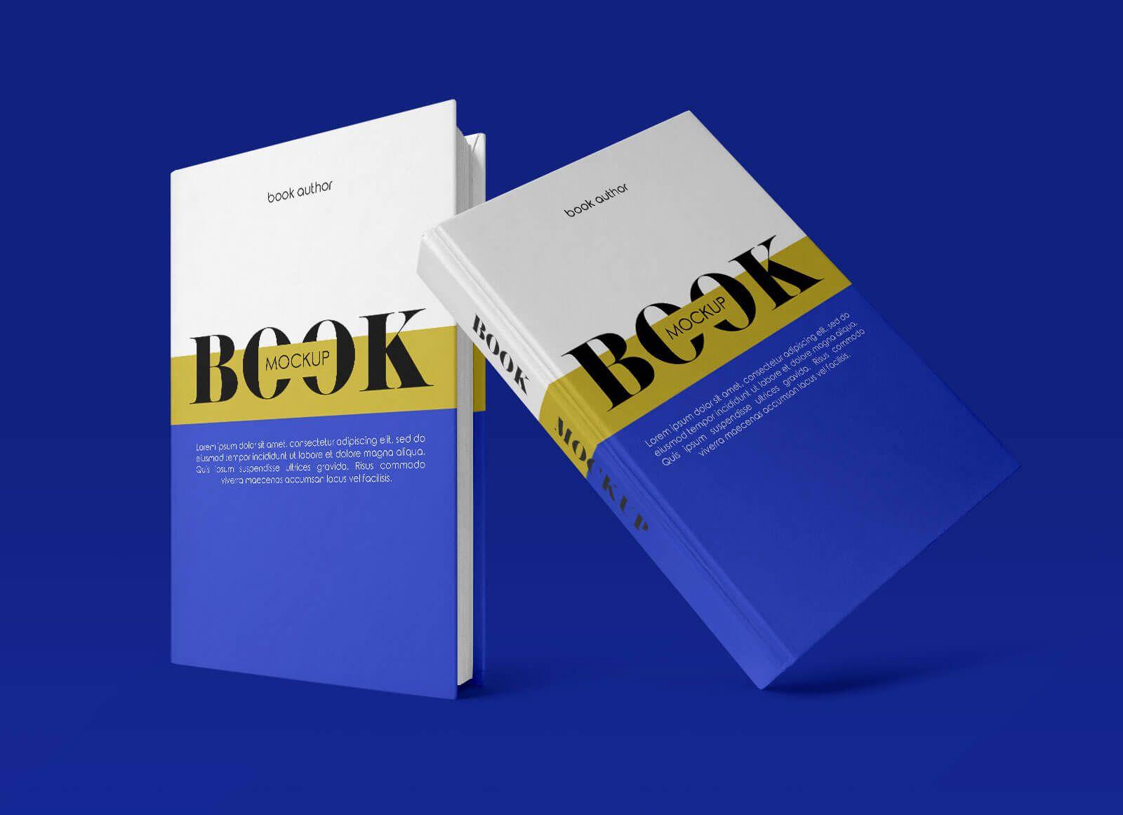 Free Hardcover Standing Book Mockup Psd Set Hardcover Mockup Psd Psd