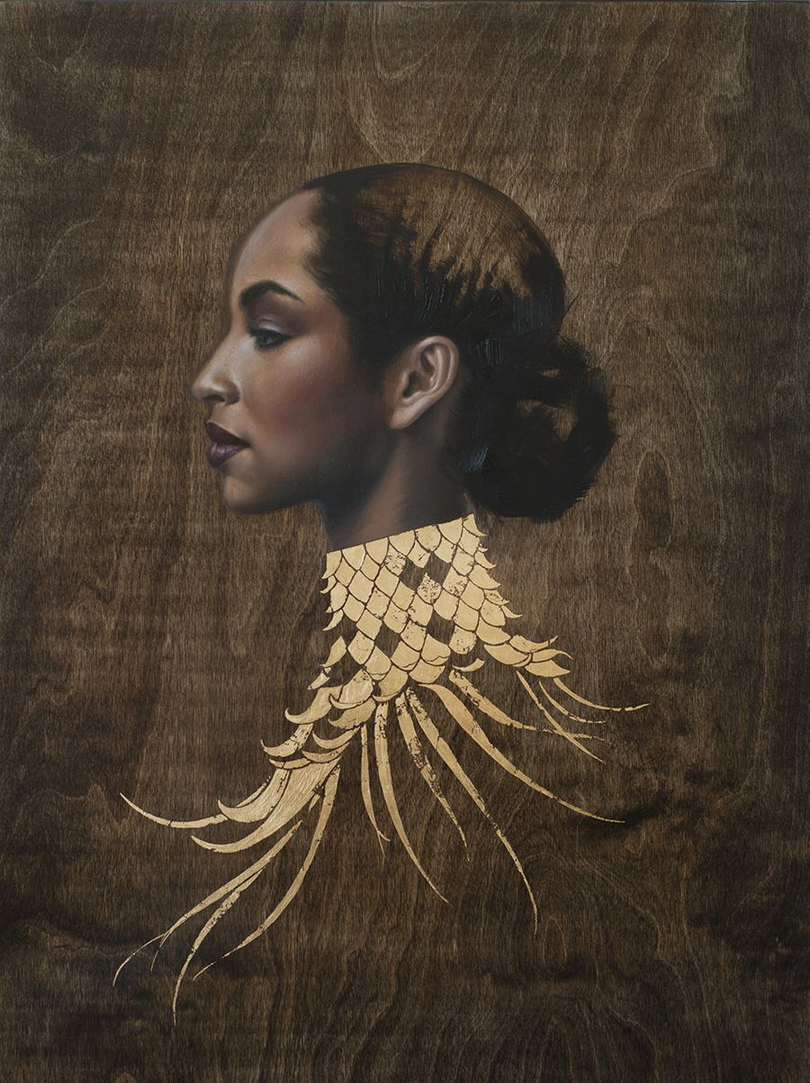 Pin By Youki Verloo On Collarsssssss Black Women Art Gold Leaf Art Female Art
