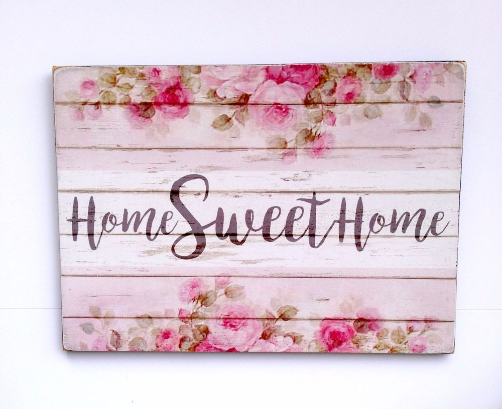 Shabby Chic Wall Decor Home Sweet Home Shabby Chic Wall Decor Plaque Handmade