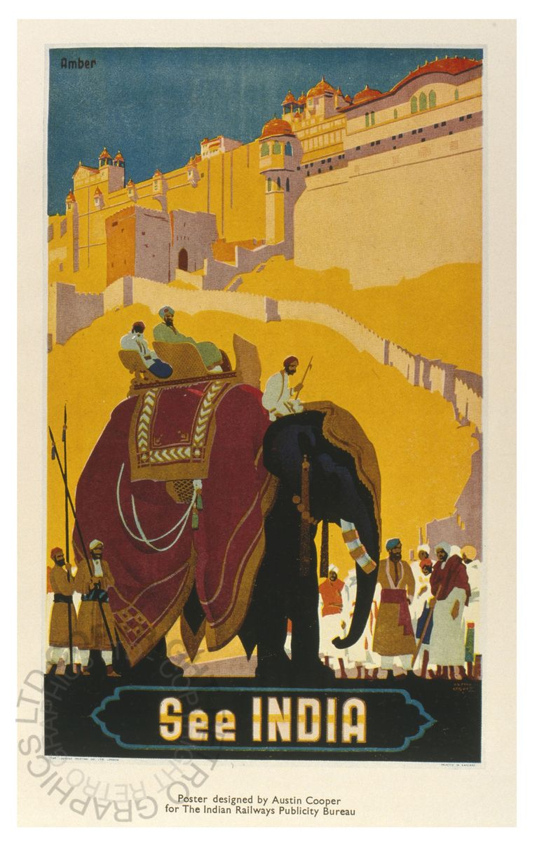 See India by Austin Cooper, 1920 - Retrograph Wall Art | Art Deco ...