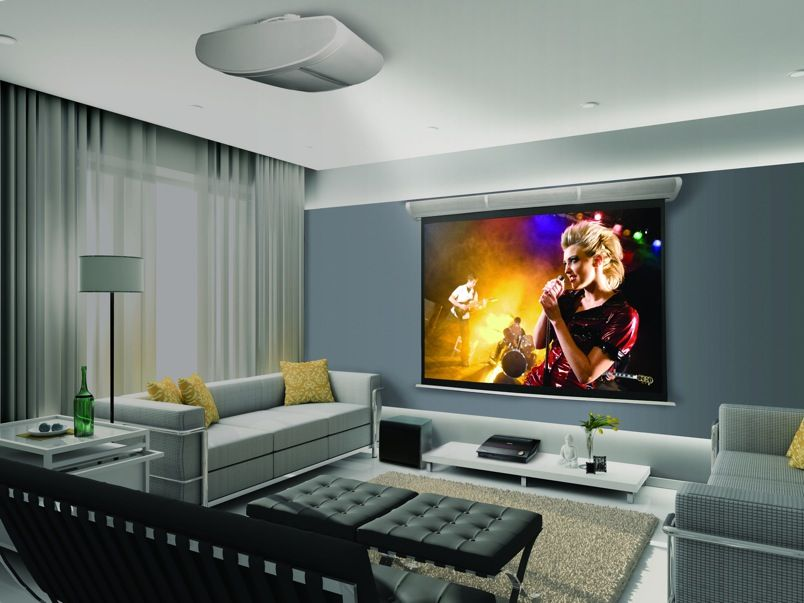 Projector In Living Room