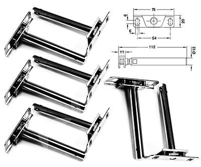 8 Pcs 4 Pairs Concealed Floating Shelf Support Brackets