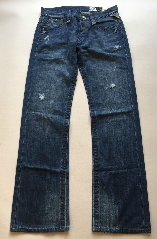 Replay Jeans Tirmar Tapered Cotton Mens New With Tags Authentic
