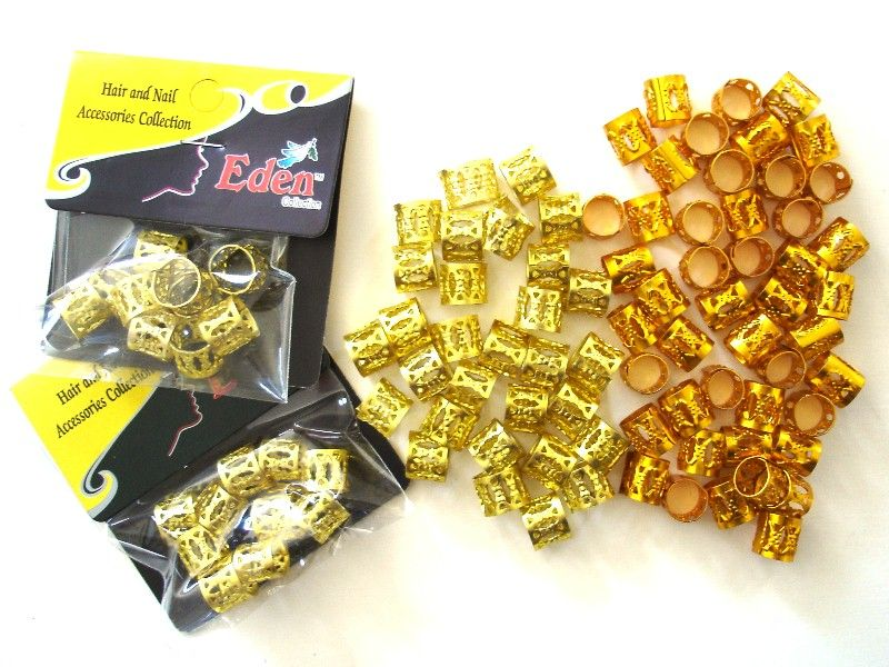 Gold And Bright Dread Cuffs 2 Per Pack