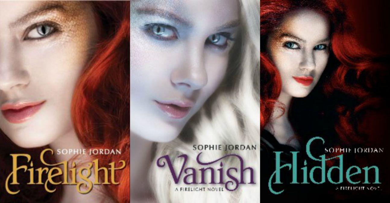 Firelight trilogy by Sophie Jordan. Firelight. Vanish. Hidden.