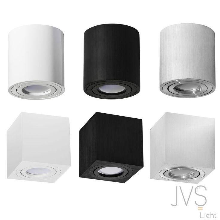 Milano Gu10 230v Led Cube Aufbauleuchte Deckenlampe Wurfelleuchte Aluminium Spot In Heimwerker Lampen Licht Einbauleuchten Ebay Luminaire Plafond