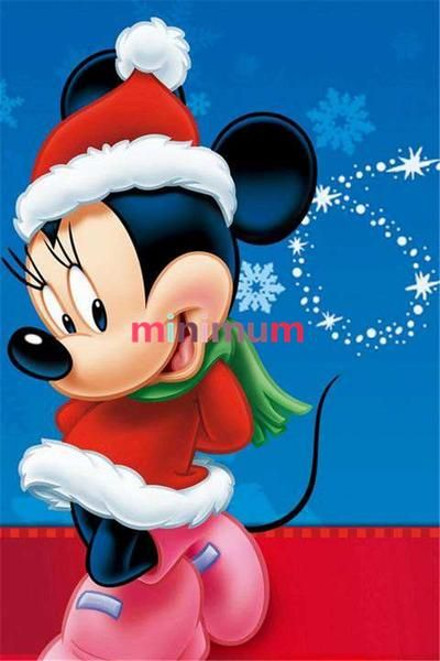 5D Diamond Painting Christmas Minnie Mouse Kit in 2019 ...