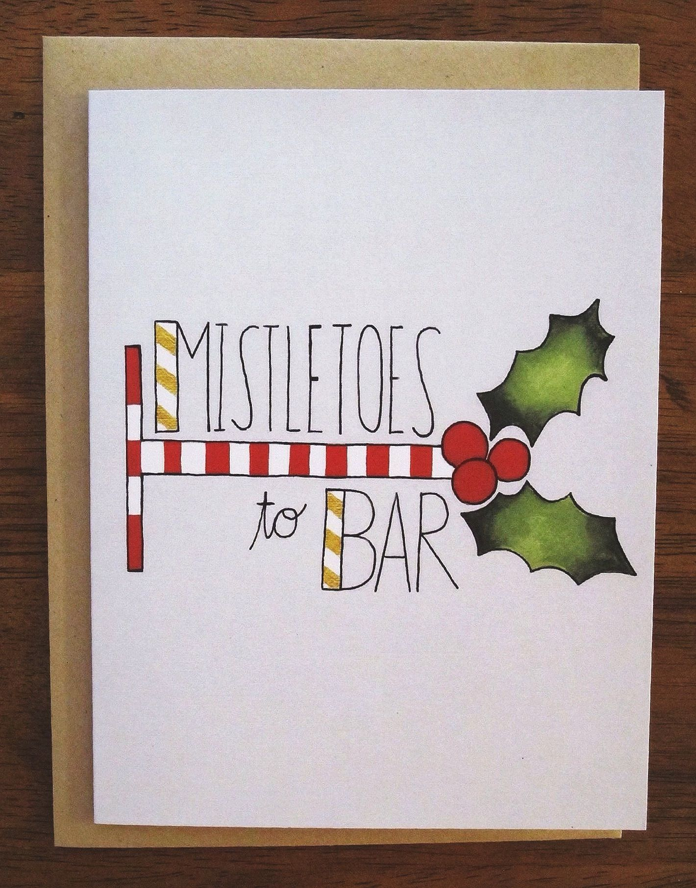 Fitness Christmas Greeting Card Mistletoes To Bar Pinterest