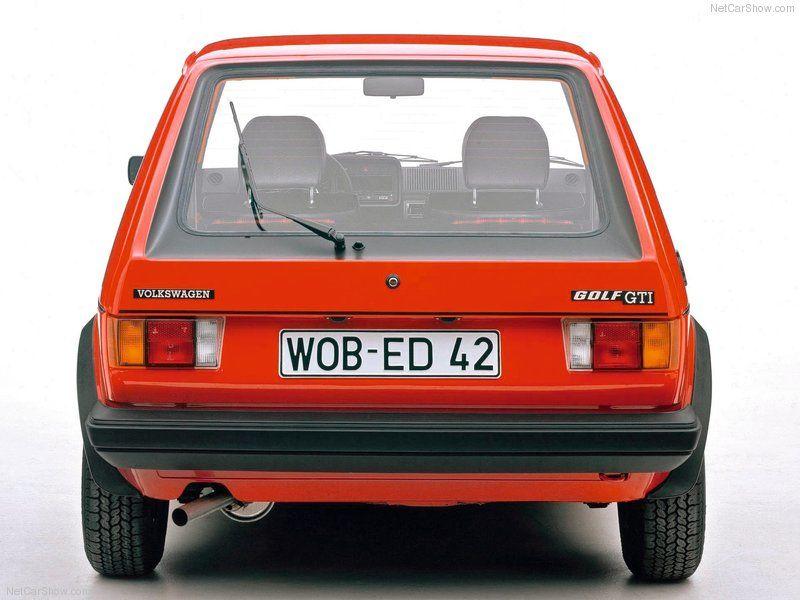 Volkswagen / VW Golf I GTI - Rear, 1976