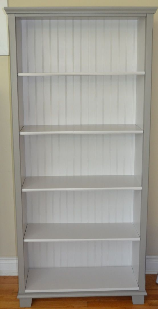 IKEA Markor makeover Grey paint on the outside creamy white on – Ikea Markor Bookcase