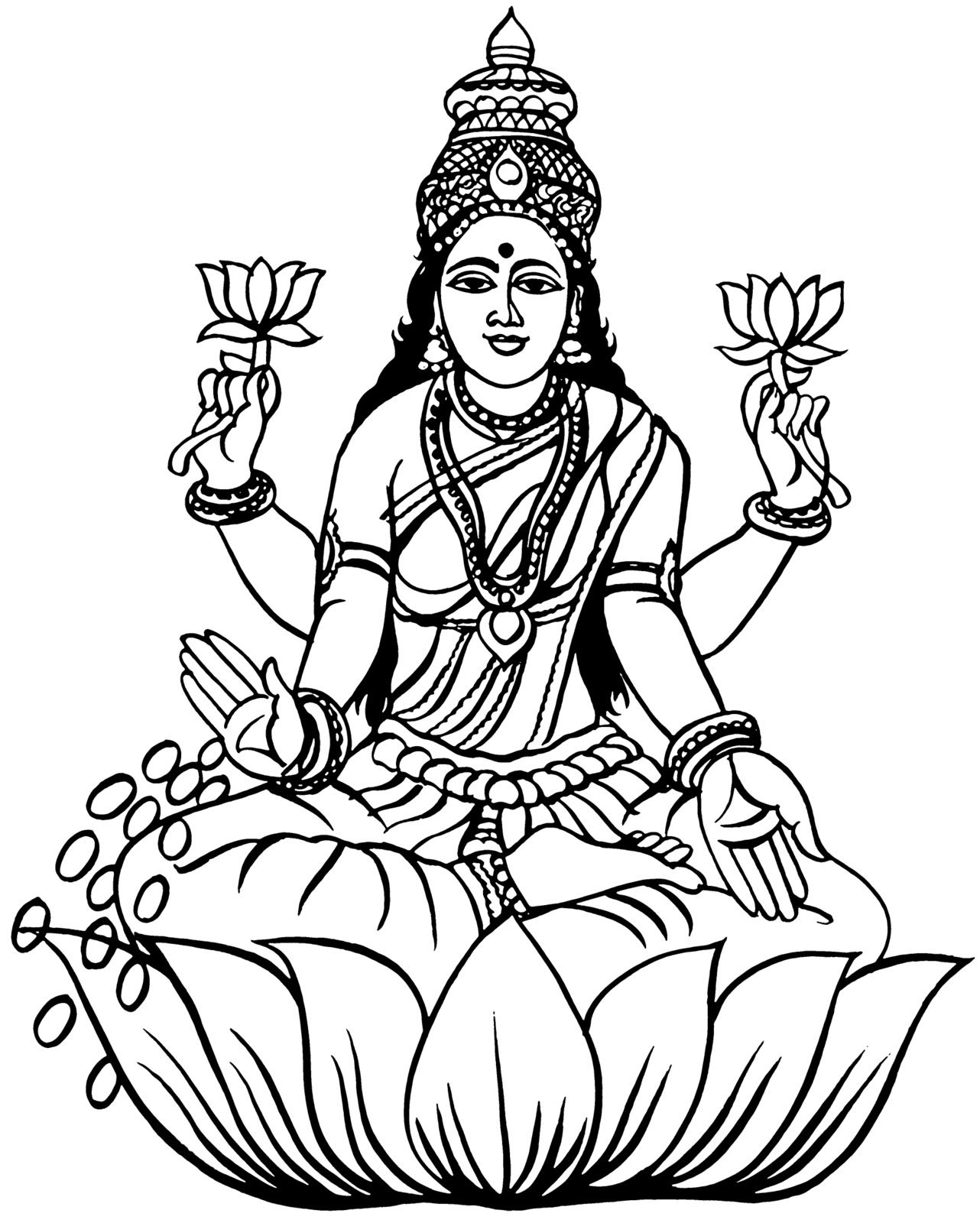 gods-clipart-laxmi-12.jpg (1282×1600) | Cartoon clip art ...