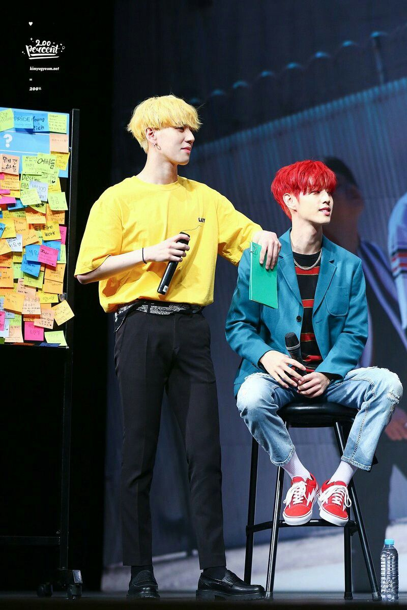 Pin By Def On Yugyeom 김유겸 In 2019 Yellow Hair Got7 Yugyeom Got7