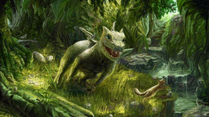 Small Dragon Tattoo by Strecno Green nature wallpaper