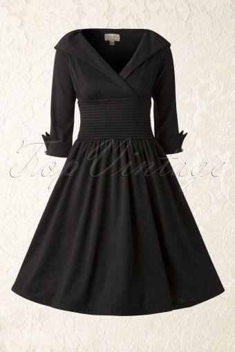 Lindy Bop Ramona Black Swingdress 102 10 14528 20141020 008W