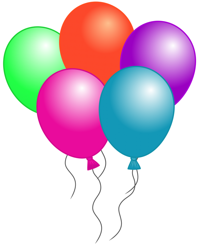 small resolution of free birthday balloon clip art free clipart images