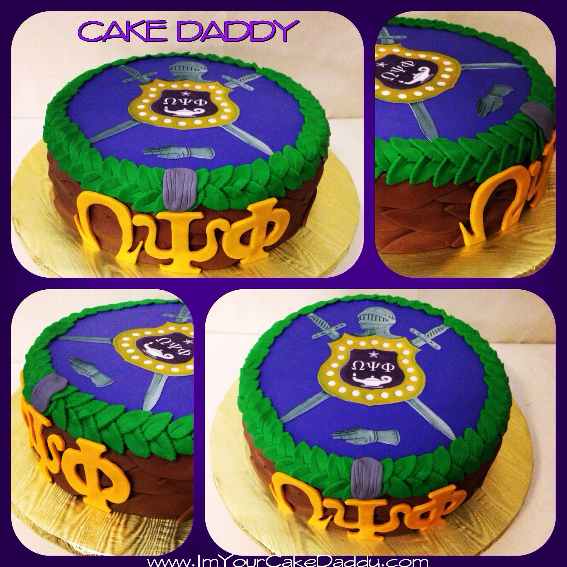 Omega Psi Phi Groom Cake Wedding Cakes By Cake Daddy Pinterest