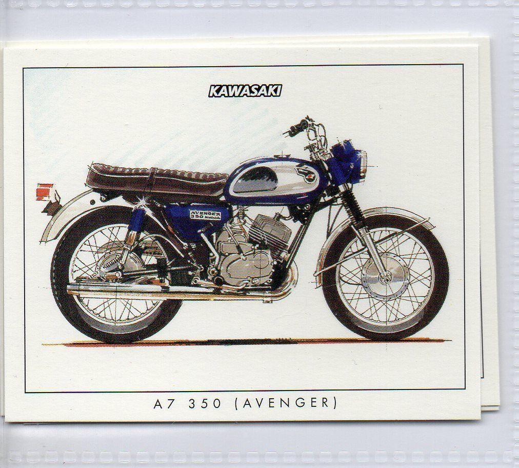 2 Kawasaki A7 350 Avenger Motorcycle Card | eBay | kawasaki ...