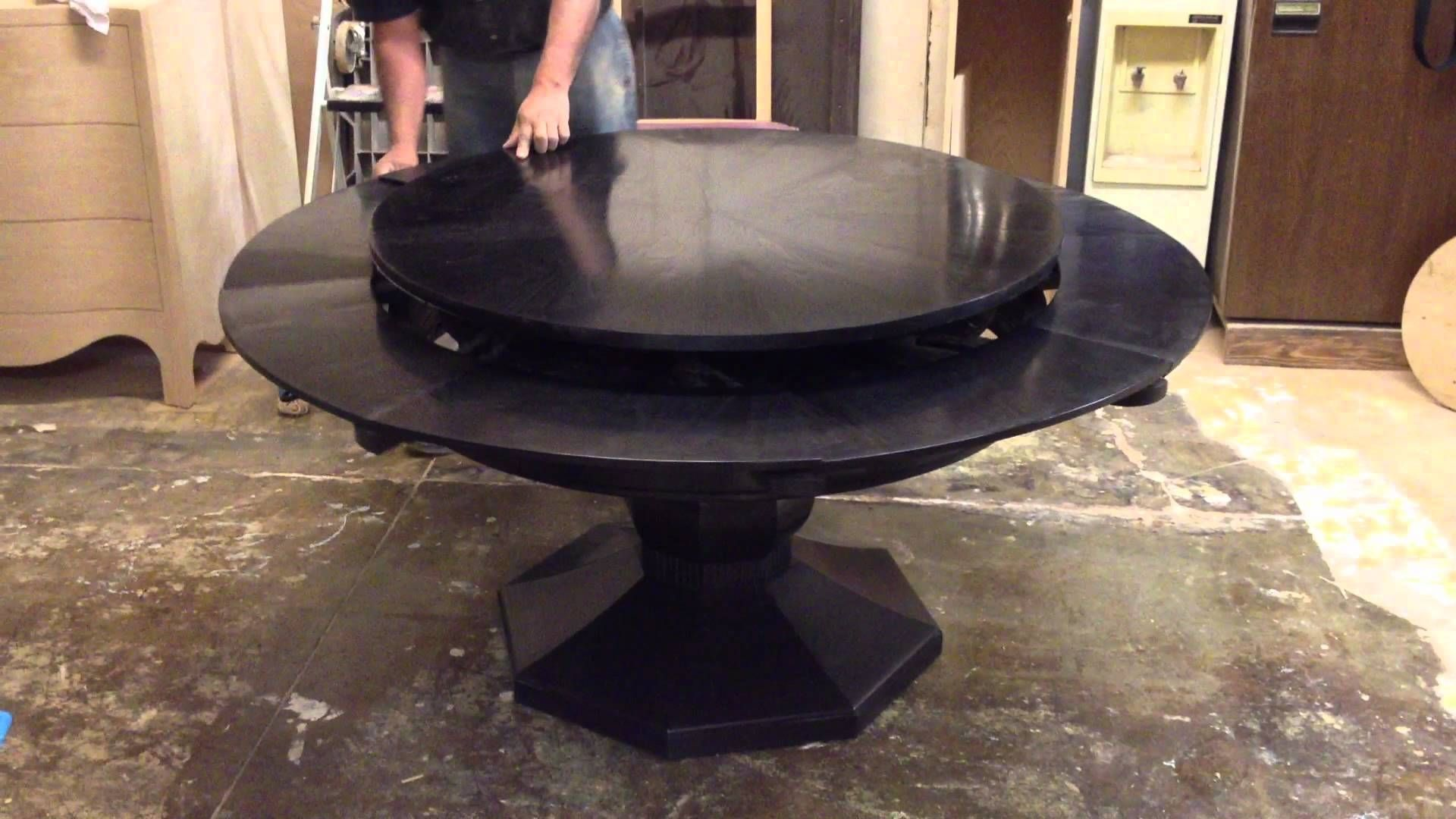 Round Spinning Expandable Dining Table Round Dining Room Table