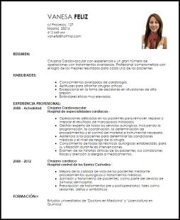 Modelo Curriculum Vitae Cirujano Dx Pinterest Curriculum