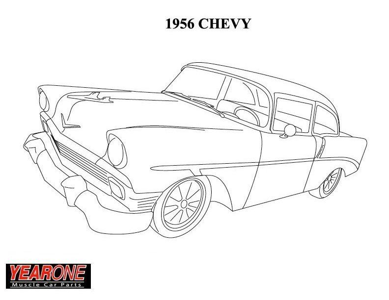 57 chevy coloring pages